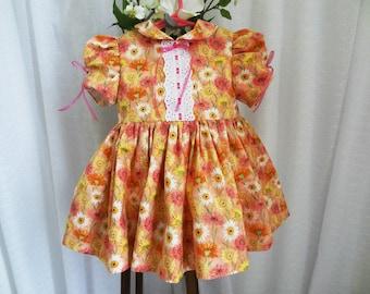 One Year Girl, 11 Months, 13 Months, 14 Months, Toddler Girl, Handmade Dress, Party Dress