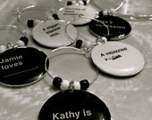 Double Sided Cards Against Humanity Custom Wine Charms Set of 10