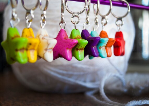 Stars! Stitch Markers (Set of 6)