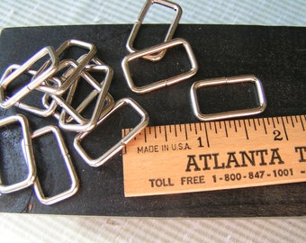 """6 pieces of 3/4"""" Metal Rectangle, Ideal and Sturdy for totes, purses, pet martingales, belts.  3/4"""" opening for web or strap fasteners."""