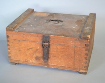 Rare vintage Wooden  Milk Crate Delivery Box - All Original