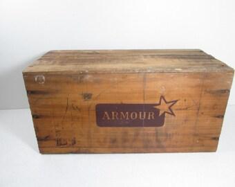 Armour Wooden Crate Corned Beef Uruguay