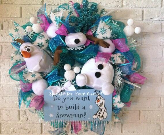 Items similar to Olaf, Frozen, Christmas Wreath, Do You ...