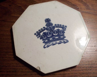 CLEARANCE Incredible Antique Octagon English Minton Hollins Tile
