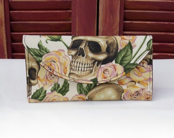 Skulls in a Bed of Yellow Roses Wallet