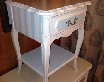 SOLD: Coastal Bachelor's Chest and Side Table
