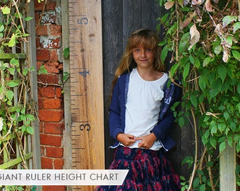 Kids Rule  Wooden Ruler Growth Chart