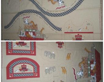 Daisy Kingdom Country Noah's Ark Fabric Panel Prints - 100% Cotton Fabric Material Prints