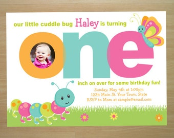 Cuddle Bug Birthday Invitation - Digital File (Printing Available)