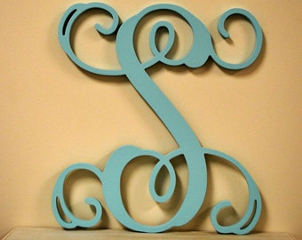 """20"""" inch PAINTED Single Wooden Vine letter"""