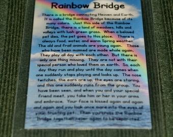 Memorial Rainbow Bridge Poem Magnet
