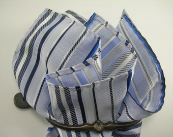 light blue  multicolor  Pocket square