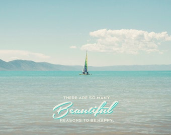 Beautiful reasons to be happy -Bear Lake Utah postcard