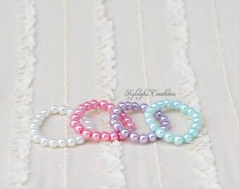 Set of 4 baby bracelets, newborn prop, newborn photography prop, baby jewelry, baby bracelets