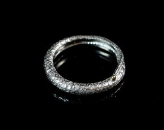 Tendril Ring - Sterling Silver, 18k Gold - Available in Black and White