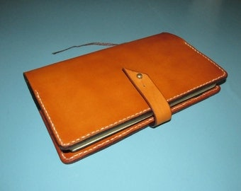 Leather Moleskine Cover. Large.   Handcut, hand stained and hand stitched in the USA.