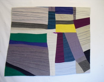 Abstract, contemporary,wall art Fiber Art Quilt  original  piece of art made from fabric and quilted together.Modern Quilt