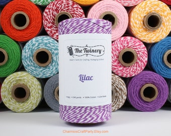 240 Yards Twist Lilac Light Purple Baker's Twine - Packaging Embellishments Craft Supplies