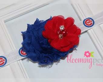 Chicago Cubs Shabby Chic Headband