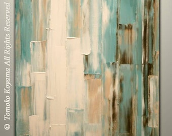 "Original Abstract Painting on Gallery wrapped Canvas 24"" x 30"", Home Decor, Wall Art by Tomoko Koyama"