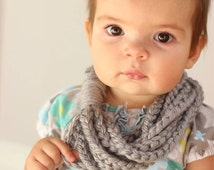 Baby Scarf, Toddler Scarf, Chain Loop Scarf, Chain Scarf, Soft, Bulky Yarn, Color Choice, Crocheted, Women's, Circle Scarf