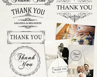 Thank You Word Arts Photo Overlays - PSD and PNG - ID198 Instant Download