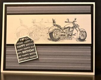 Masculine Birthday Card, Motorcycle Birthday Card, Stampin' Up Birthday Card