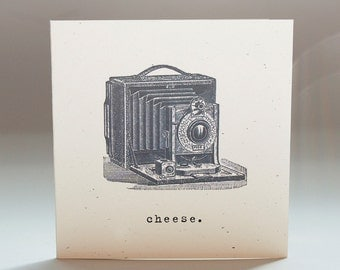 Cheese, photography, Camera, Blank Notecards, Gift Tags