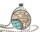 Los Angeles necklace pendant charm, California map jewelry charms, Mom Gifts, Santa Monica keychain, custom California necklace, A115