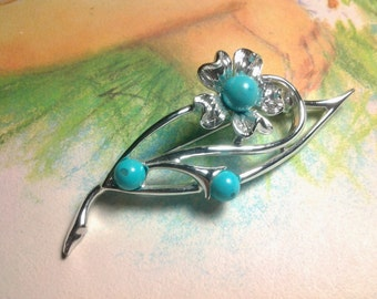 vintage costume jewelry brooch pin flower