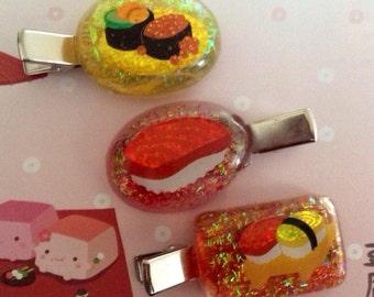 Sushi Glitter Clips