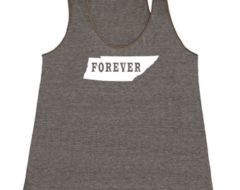 Tennessee FOREVER Tank Top. Women's Tri Blend Racerback Tank Top SEEMBO Tennessee State.Tennessee Love - Tennessee Pride