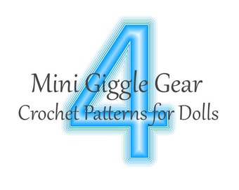 Pick Any 4 Doll PDF Crochet Patterns by Mini Giggle Gear - Pack - Sale