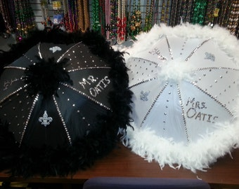 custom wedding second line umbrella