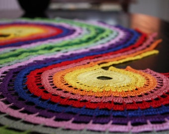 Colorful crochet placemat