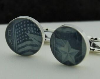 Texas Cufflinks – Texas statehood Stamp Cufflinks (Cuff Links) – Lone Star Cuff Links - Men's Cufflinks Texas Cuff links