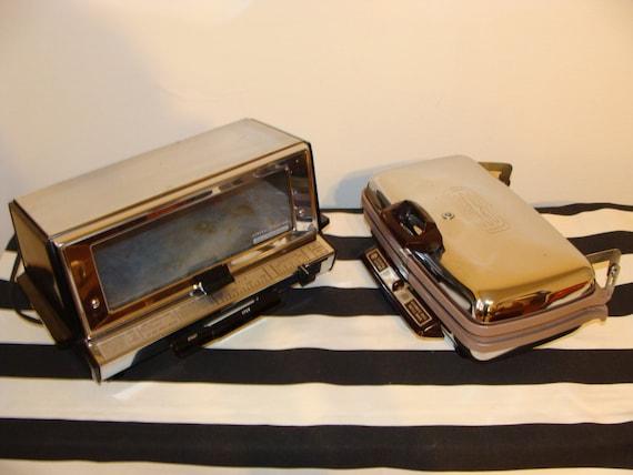 Vintage Ge Toaster Oven ~ Retro s chrome kitchen appliances ge toaster oven and