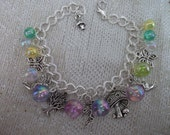 Fairies at the bottom of the garden bracelet
