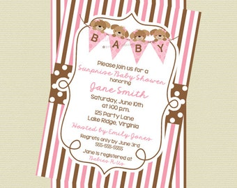 Printable Pink Puppy Shower Invitation