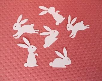 Mini Bunny  Die Cuts Set of  24 Bunnies