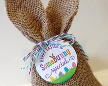 Easter Tags, Printable, INSTANT DOWNLOAD, 2 Inch Round  and 2.25 Inch Square