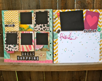 LARGE Chipboard Album, Custom Scrapbook, Custom Guestbook, Ready to Finish Scrapbook, Handmade Scrapbook, Pre-Made Scrapbook, Photo Album,