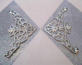 Filigree Silver Embellishment  2Pcs  (C327 C407)
