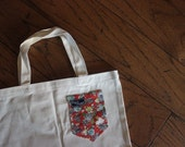 Vinny - Paiges Pocket Canvas Tote Bag
