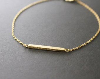 gold bar bracelet - minimal