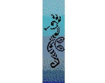 Seahorse Peyote Cuff Bracelet Pattern
