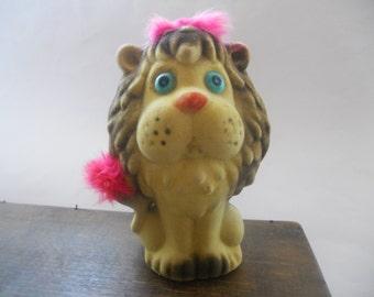 Vintage toy lion Vintage saving bank Money bank Kids money bank