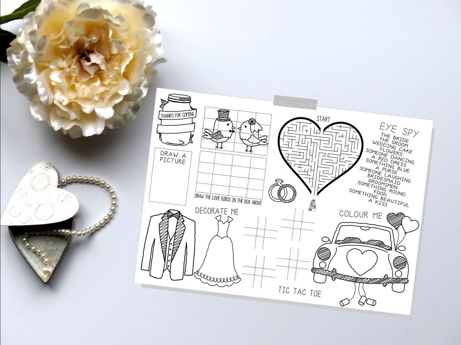 Kids Wedding Favors Wedding Activity Book Wedding Activity