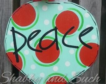 Peace Ornament Door Hanger Christmas Holiday Door Decor X-Large