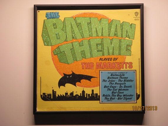 Glittered Record Album - The Batman Theme